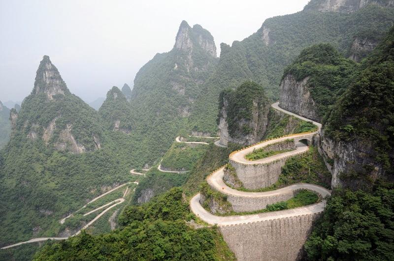 Zhangjiajie-road