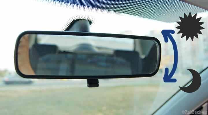 Reglează corect oglinda retrovizoare