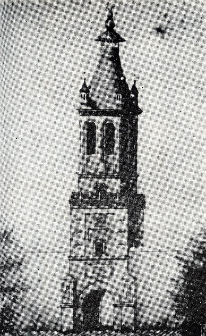 Turnul Colțea înainte de cutremur
