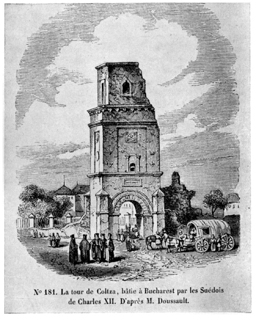 Turnul Colțea după cutremur1