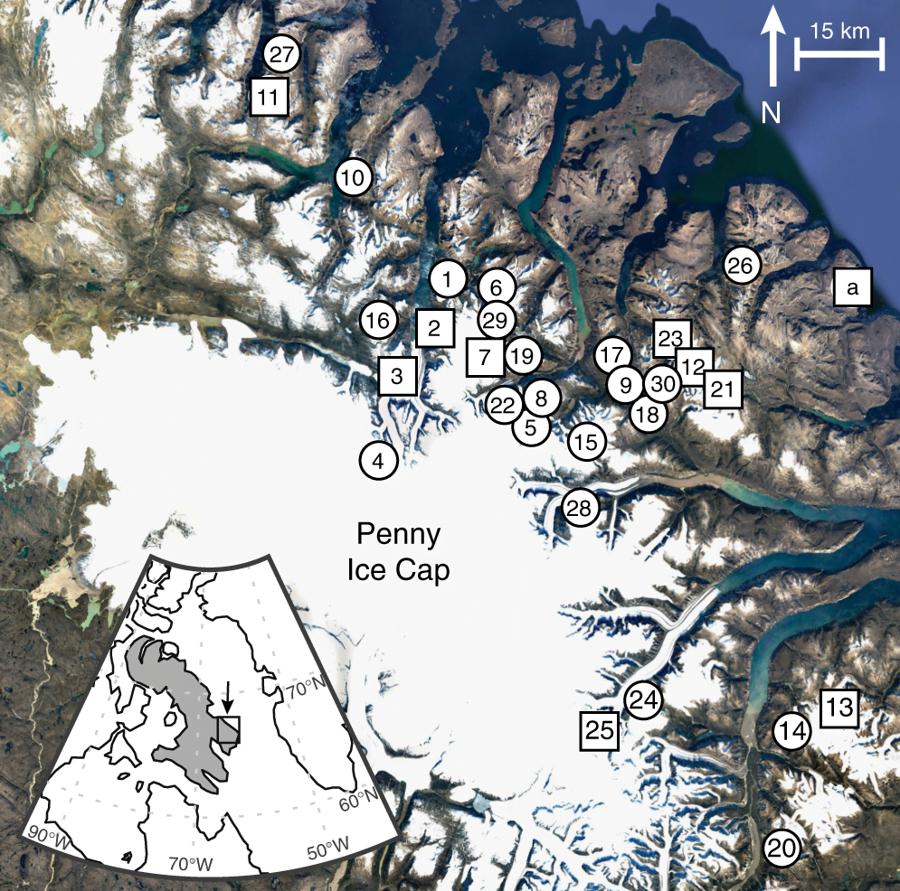 Harta insula Baffin