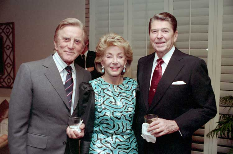 Douglas and wife Anne with President Ronald Reagan